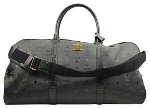 MCM Keepall Duffle Duffel Weekend Travel Black Travel Bag
