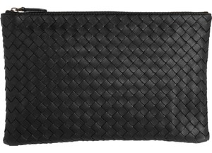 Bottega Veneta Pouch Leather Document Case Medium black Clutch