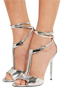 Tom Ford Metallic Silver Sandals