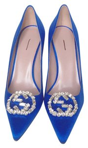 Gucci Heels Swarovski blue Pumps