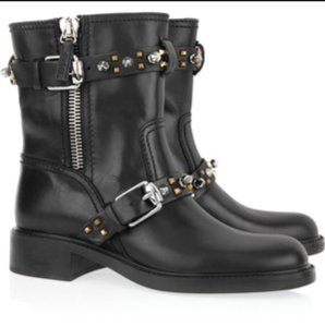 Gucci Studded Metallic Metal Black Boots