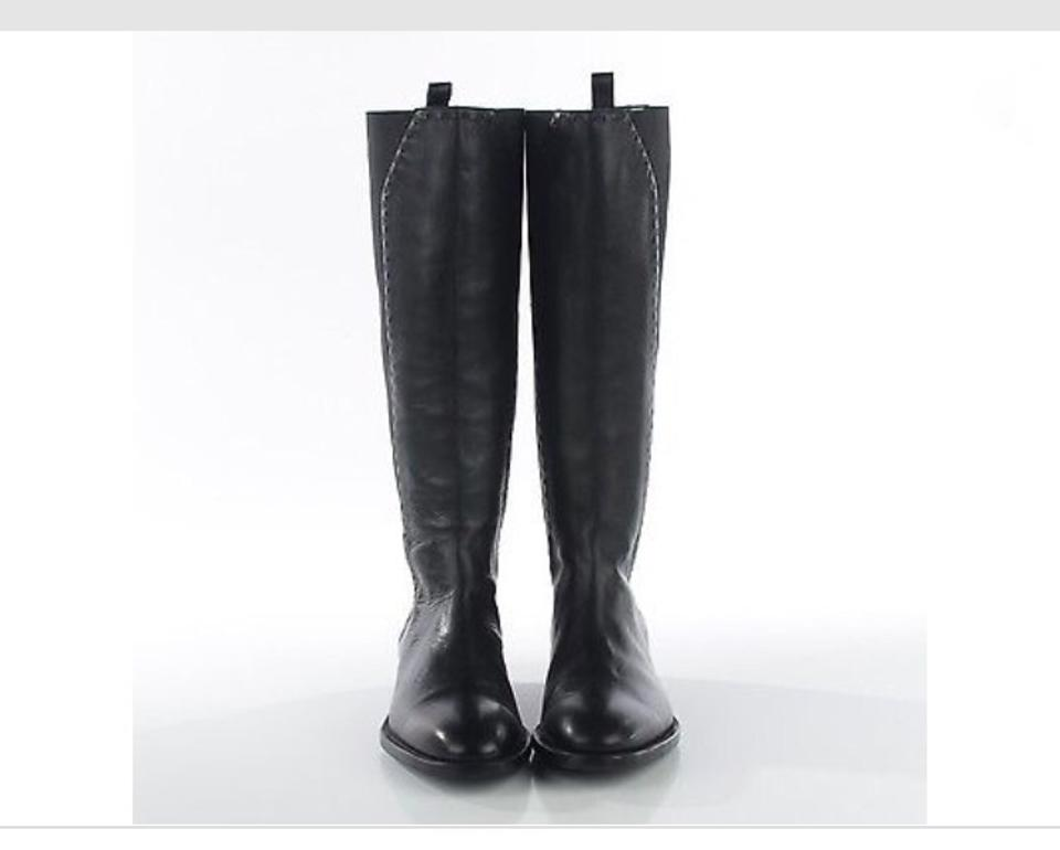ccccb581c36 Saint Laurent Black Ysl Tall Riding Style with Elastic and Detail Stitching  Boots/Booties
