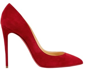 Christian Louboutin Louboutin Suede 100mm red Pumps