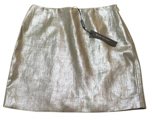 Elie Tahari Mini Skirt light gold