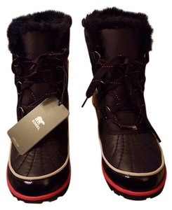Sorel Winter Faux Fur Black Boots