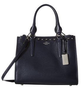 Coach 37400 Navy Smooth Tote in Blue