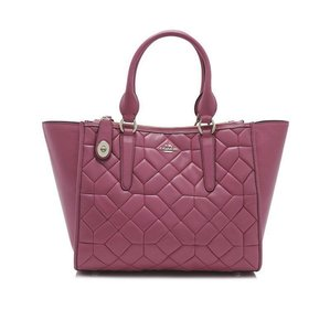 Coach Navy Leather Floral Crosby Satchel in Pink
