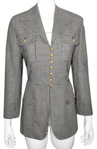 Moschino Black & White Check Blazer