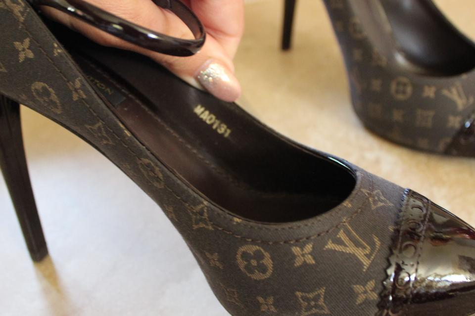 70c3bd1aa46 Louis Vuitton Brown Romance Strap Mary Jane In Monogram Idylle Pumps ...