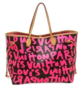 Louis Vuitton Tote in Brown and Pink