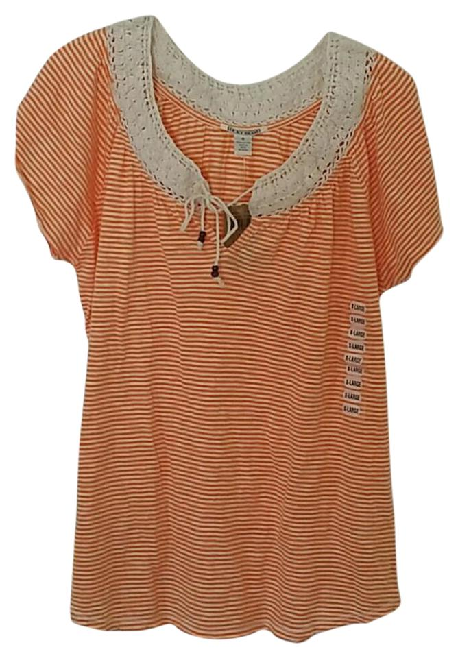 lucky brand orange ivory striped baby tunic size 16 xl. Black Bedroom Furniture Sets. Home Design Ideas