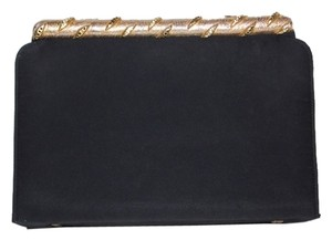 Ingber Vintage Juliart New Years Party Handbag 1940s 1950s 40s 50s Classic Black and Gold Clutch