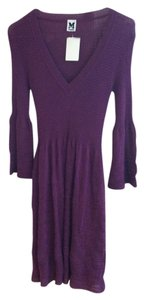 M Missoni short dress Eggplant Knit Flared Sleeve on Tradesy