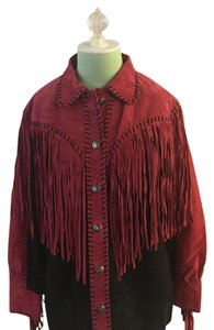 Bob Mackie Black and red Leather Jacket