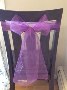 20 Purple Chair Ties