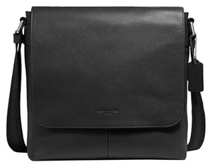 Coach Cross Body File Laptop Charles Black Messenger Bag