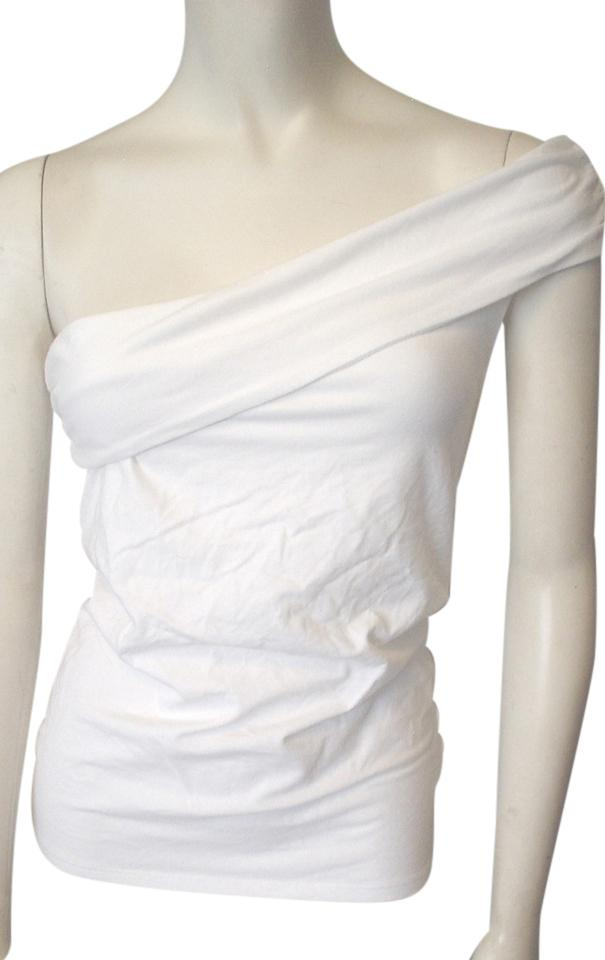 ab396bfd97e92 Victoria's Secret Fbks Bra Tops One Shoulder Knit Size S White Top 50% off  retail