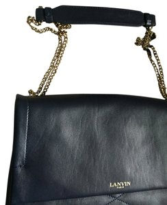 Lanvin Leather Lambskin Quilted Chain Shoulder Bag