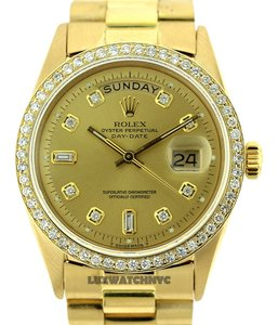 Rolex MEN'S ROLEX DAY-DATE 18K GOLD PRESIDENT 3CT DIAMOND WATCH