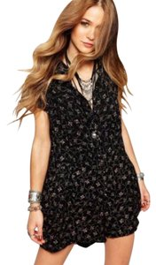 Free People Romper Debby Dot Print Dress