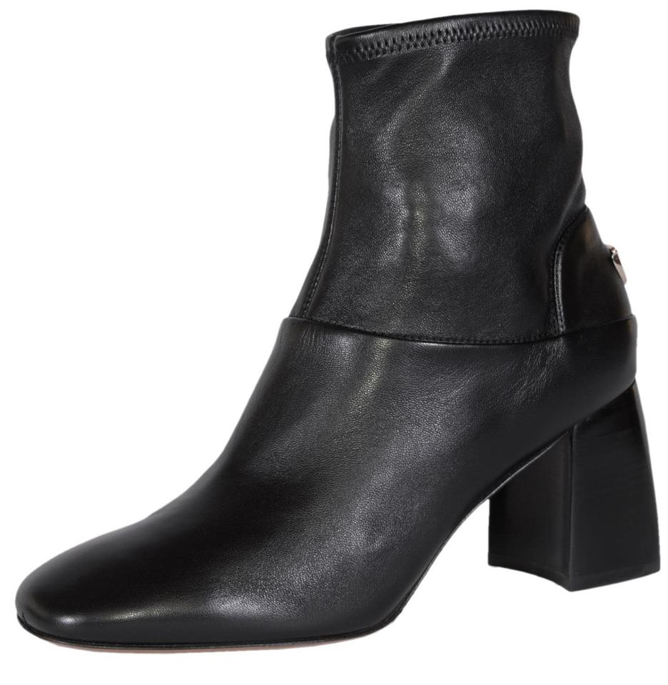 5bab15ca149f1 Tory Burch Black T Stretch Nappa Leather Sidney Logo Ankle Boots Booties