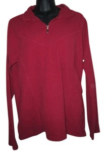 Maurices Fleece Tomato Winter Top Red