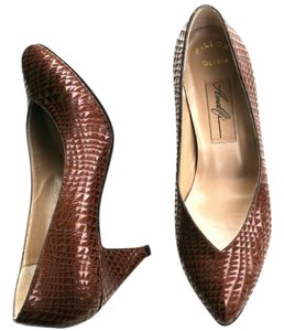 Amalfi Vintage Leather Designer Multi-Brown Pumps