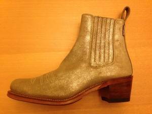 Penelope Chilvers Metallic Leather Bronze Boots