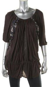 Free People Boho Peasant Top Black (Washed)
