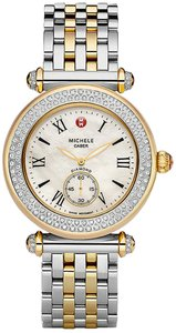 Michele NEW Caber Diamond Two Tone Gold MWW16A000066 Ladies Watch