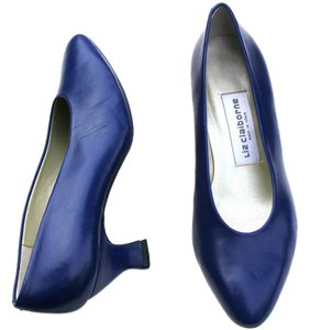 Liz Claiborne Leather Vintage Blue Pumps