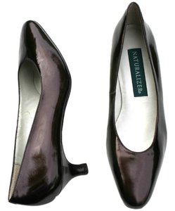 Naturalizer Patent Leather Leather Vintage Brown Pumps
