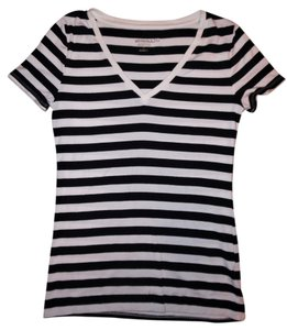 Merona Stripes Nautical T Shirt Navy Blue, White