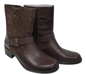 Anne Klein Leather Dark Brown Boots