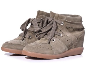 Isabel Marant Suede Wedge Taupe Boots