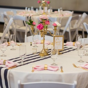 Navy And White Stripe Table Runners- 10