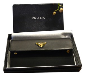 Prada PRADA Black Tessuto Wallet Soft Calf/Nylon 1MH037 New in box
