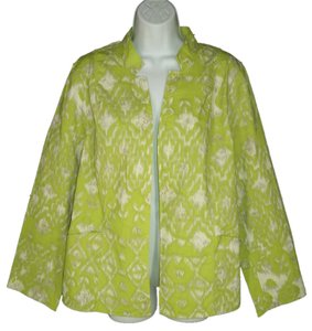 Chico's Reversible Cotton Ikat Jacket
