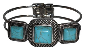 Other 3 Square Turquoise Cuff Bracelet.