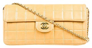 Chanel Tan Leather Quilted Shoulder Bag