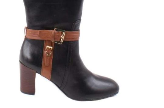 Tommy Hilfiger 2 Tone Ankle Buckle Boots