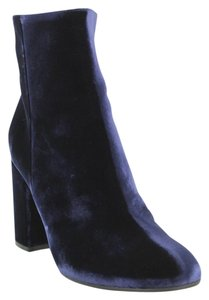 Gianvito Rossi Velvet Ankle Plush Leather Navy Boots