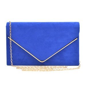 Classic Purse Blue Clutch