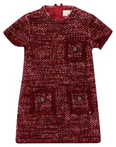 Lanvin short dress red Petite Tweed Girls on Tradesy