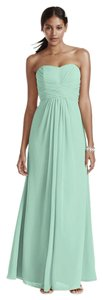David's Bridal Strapless Bridesmaid Long Chiffon Dress