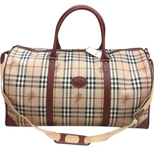 Burberry Keepall Weekender Travel Two Way Red Travel Bag
