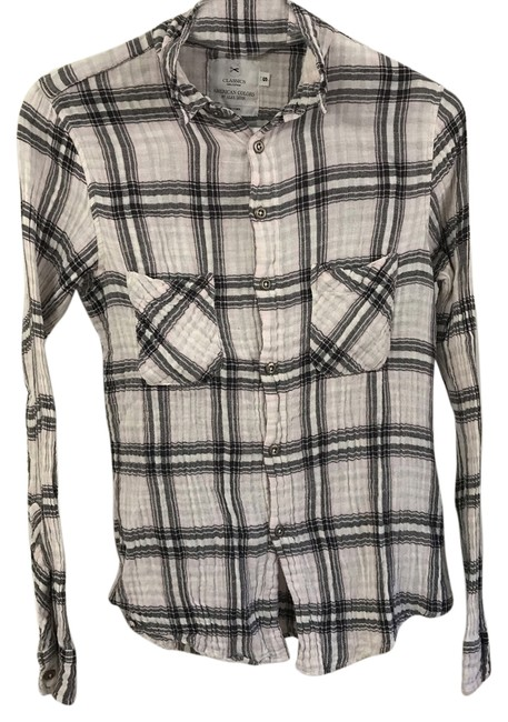 Item - Flannel Work Button-down Top Size 4 (S)