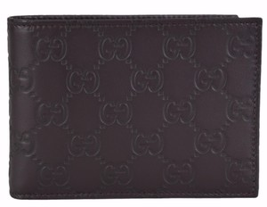 Gucci Gucci Men's 292534 Brown GG Guccissima Leather W/Coin Large Wallet