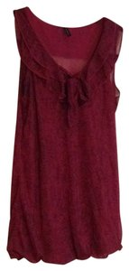 Maurices Top Burgundy