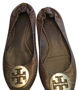 Tory Burch brown with gold Tory Burch Flats